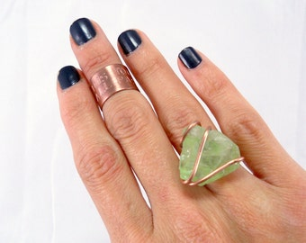 Personalized Midi Ring - Wide Mid Finger Ring in Copper / Personalized Ring, Unique Gift for Her Under 35 Dollars