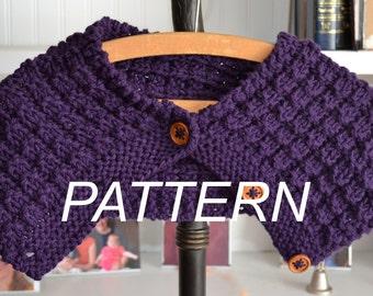 Purple Majesty Cowl PDF  Knitting Pattern
