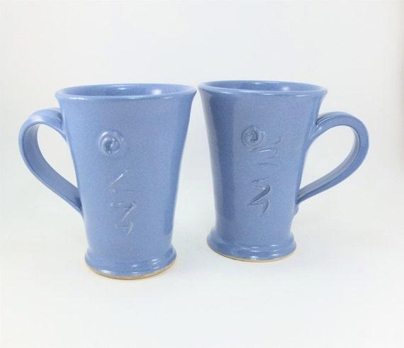 special pair of light blue mugs