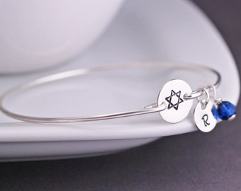 Star of David Jewelry, Bat Mitzvah Gift, Star of david Bracelet in Sterling Silver
