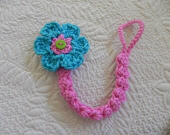 Paci Clip..Pacifier Clip.. Crochet Cotton