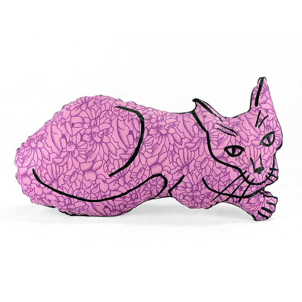 decorative pillow cat pillow animal pillow relaxed cat