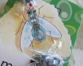 Large Plastic Fly Earrings or Pins
