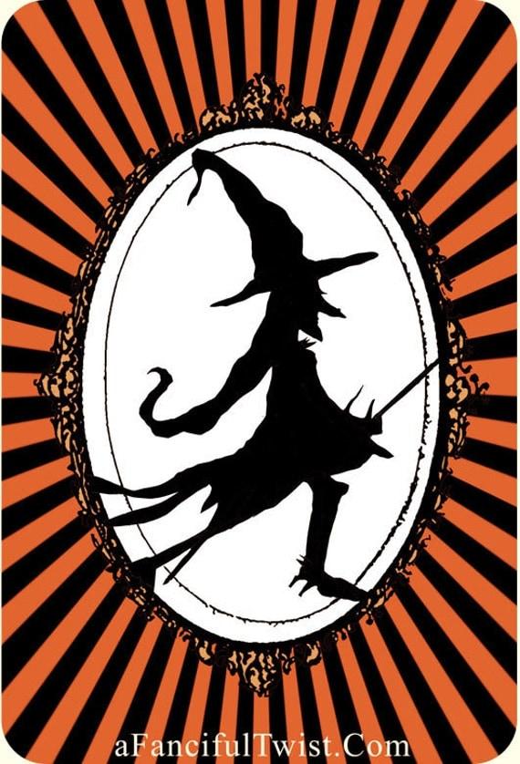 5 Postcard set- Witch Medallion