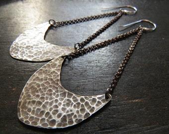 Medium Pendulum Earrings - Sterling and brass