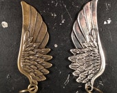 Wing Charm Antique Bronze or Antique Silver