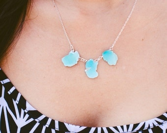 Turquoise Slab Sterling Silver Necklace