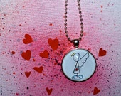 Love Angel Heart Messenger Necklace