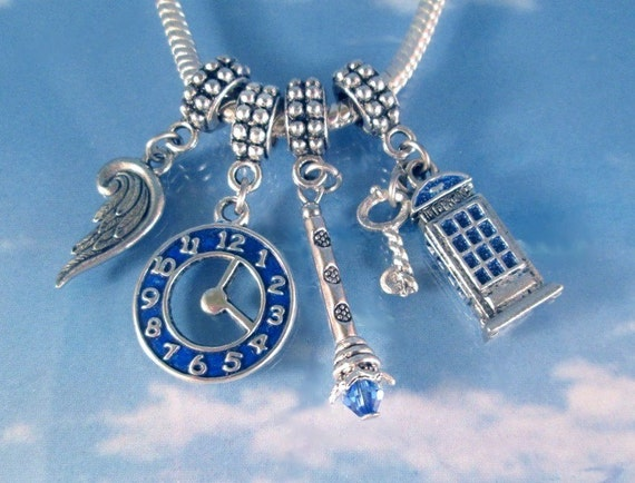 items similar to dr who silver charms set european slide