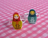 Mod Russian Nesting Doll Matryoshka Ring