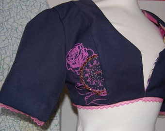 Cropped hand printed jacket