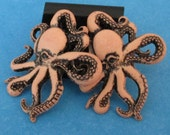 stud earrings - Octopus - surgical steal