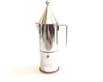 Alessi La Conica Stainless Coffee Pot Memphis Modernist