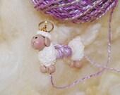 Cream White Sheep WPI tool gauge for handspun or any yarn