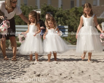 Flower Girl Dress Drop Waist