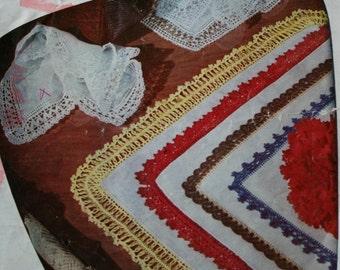 Crochet Patterns Edgings and Lace Lily Book 77 Trim Vintage Paper Original NOT a PDF