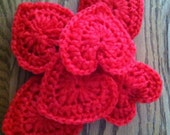 Crocheted heart scrubbies/ set of two (2)