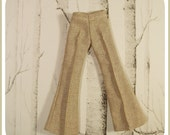 Tan Pintuck Trousers for BLYTHE
