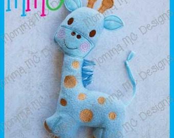 Giraffe Softie Machine Embroidery File
