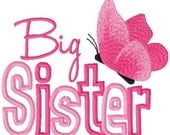 Big Sister Shirt Custom Personalized Girls Butterfly Big Bigger Biggest Sister Long or Short Sleeve T shirt Photo Prop Shower Gift