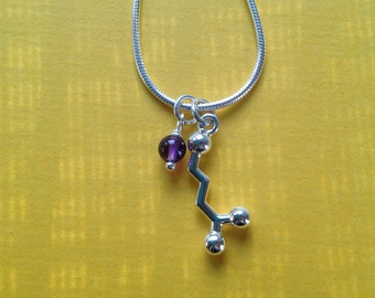 yoga necklace - GABA neurotransmitter molecule for relaxation