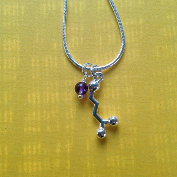 yoga necklace - GABA neurotransmitter molecule for relaxation