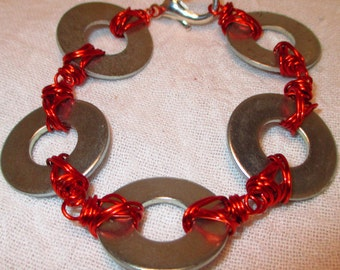 Hardware Bracelet with Pick Your Color Wire
