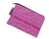 Catch All Bag holds chargers - cords - make up - collections - hard drives - Pretty in Pink Fabric