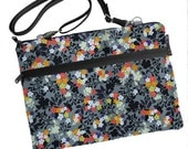 11 inch MacBook Air Sleeve Case / Bag / Shoulder Bag Zipper Padded /FAST SHIPPING/Washable/ Urban Flowers Fabric