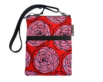 Kindle Case / Kindle Fire Cover / Kindle Touch Bag / Nook Bag / Padded eReader Case / TRAVEL BAG  fits WITH Cover Red Rose Dots Fabric
