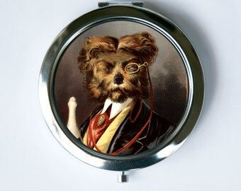 Regal Dog Compact MIRROR Pocket Mirror anthromorphic