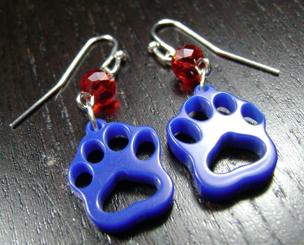 Blue Bulldog Paw Prints Louisiana tech bulldogs / fresno state ...