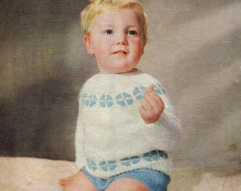 Toddler Jumper Suit 1950s Vintage Knitting Pattern Pdf Instant Download