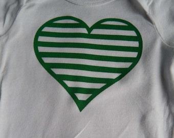Heart Print Onesie
