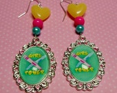 Girl Power Beaded Dangle Earrings