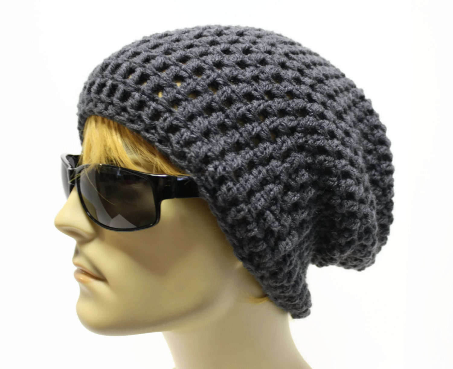 Mens Slouchy Beanie Knitting Pattern : Slouchy Beanie Crochet Pattern Men images