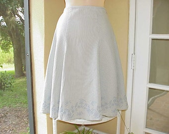 Vintage Ann Taylor Embroidered Swing Skirt