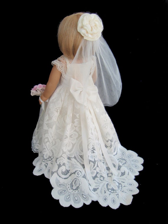 American girl doll clothes ivory lace wedding gown dress for American girl wedding dress