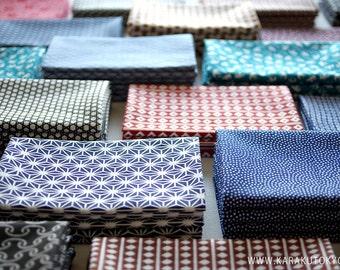 6 pcs - Tenugui - Japanese cotton fabric.