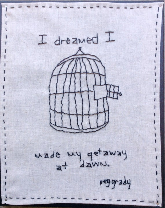 Embroidery Wall Art . Dreams of escape
