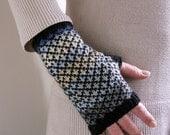 Diamond fairisle gloves