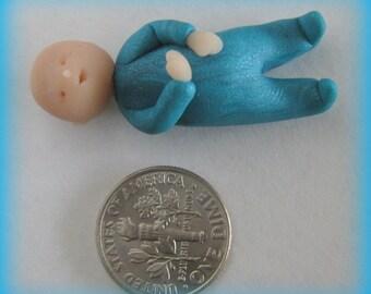 Turquoise pj's baby