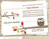 Treetop Friends Baby Shower Invitation, Owl Baby Shower Invitation, Gender Neutral Baby Shower Invitation, Printable Owl Invitation