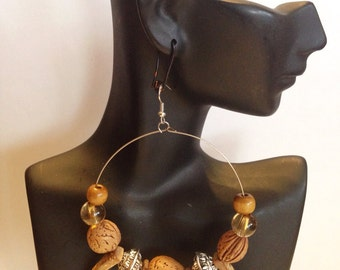 African Inspired Hoop Earrings