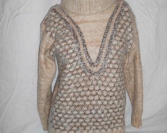 Vintage Knit Sweater, Women's Sweater