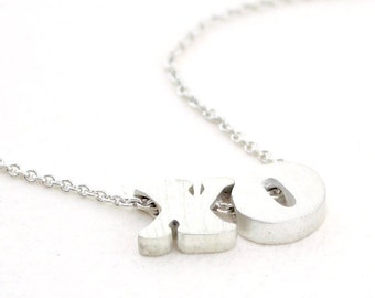 block letter initial necklace | MULTIPLE INITIALS