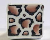 Raw polymer clay cane, millefiori, fimo,cheetah animal print, unbaked
