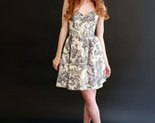 Strapless dress in Vintage Cotton--Size 6