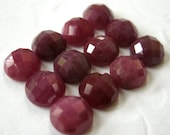 Gemstone Cabochon Ruby Red Checkerboard 5mm FOR ONE