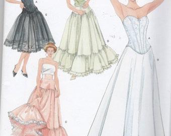 Corset Bustier Slip Petticoat Sewing Pattern Size 6 8 10 12
